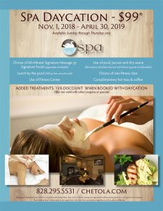 Spa Daycation 2018-19