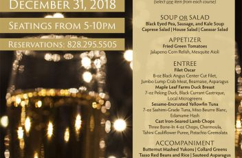 New Year's Eve Prix Fixe 2018