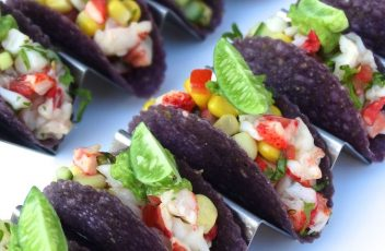 blue corn lobster taco
