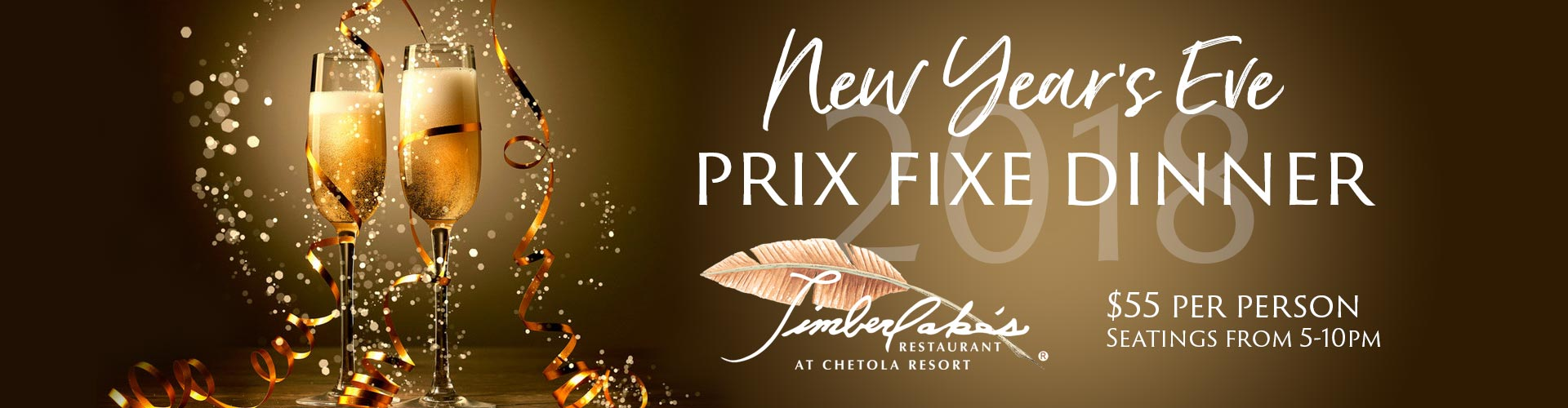 new year's eve at chetola resort prix fixe dinner timberlake's restaurant