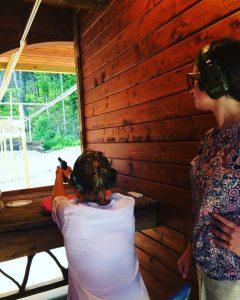 women pistol shooting