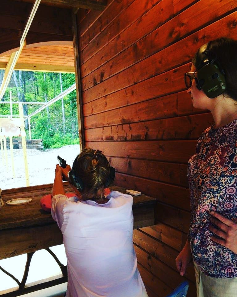 women pistol shooting